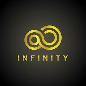Złote logo infinity