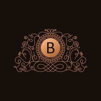Złote logo kaligrafii luksusu