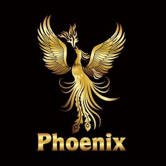 Złote logo phoenix