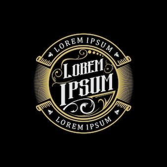 Złote logo w stylu vintage