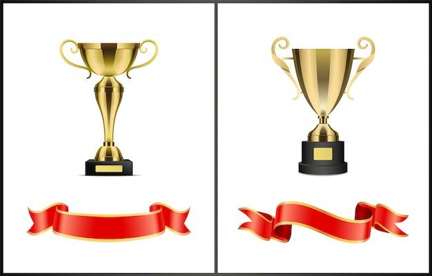 Złote nagrody za zwycięstwo w konkursie