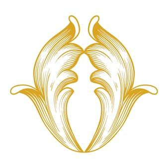 Złote obramowanie i ramka w stylu barokowym. elementy ozdobne