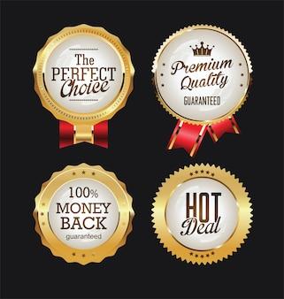 Złote odznaki i etykiety