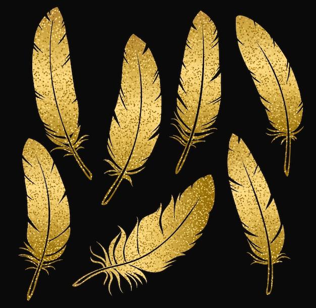 Złote pióra ptasie