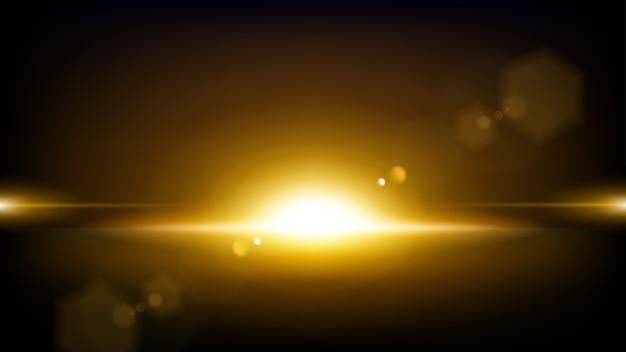 Złote promienie wschodzące tło