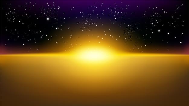 Złote promienie wschodzące