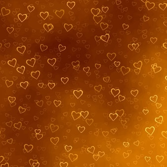 Złote serca tekstury