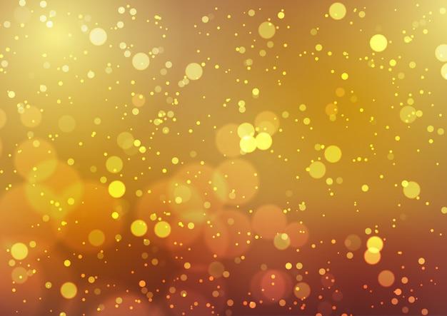 Złote światła bokeh