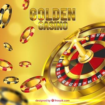 Złote tło kasyna
