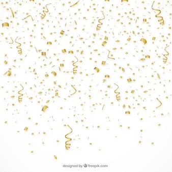 Złote tło konfetti