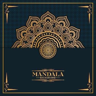 Złote tło mandali
