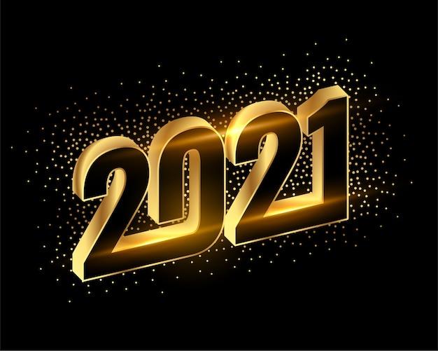 Złote tło musujące szczęśliwego nowego roku