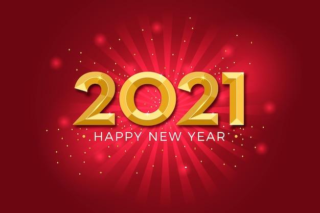Złote tło nowego roku 2021