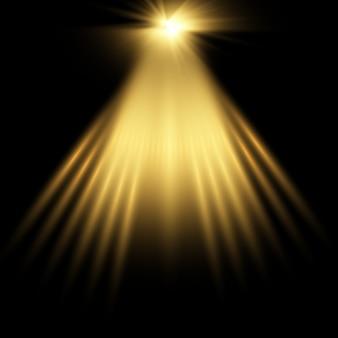 Złote tło reflektorów