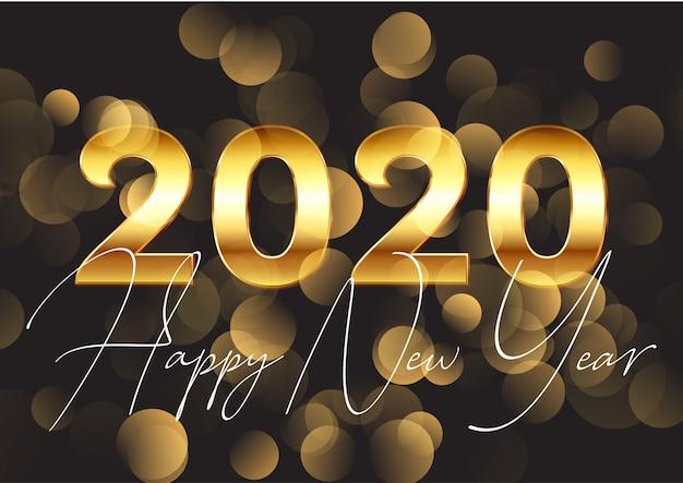 Złote tło szczęśliwego nowego roku