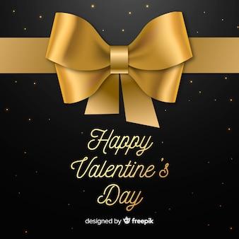 Złote tło valentine's day