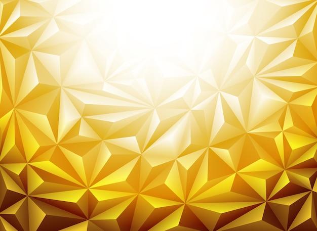 Złote tło wielokąta