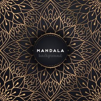 Złote tło z mandali