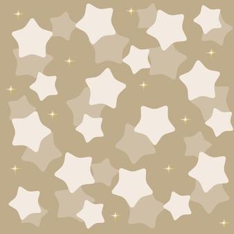Złote żółte gwiazdy na niebieskim tle ilustracji wektorowych