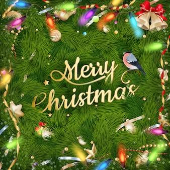 Złote życzenia bożonarodzeniowe.
