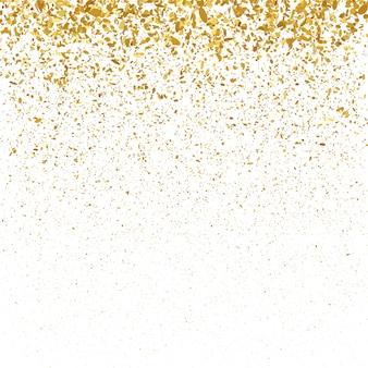 Złotego błyskotliwości bożenarodzeniowy confetti tło