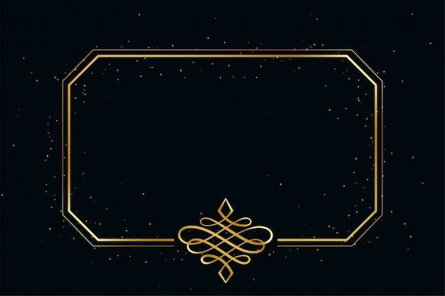 Złotego rocznika ramy królewska granica z przestrzenią tekstową