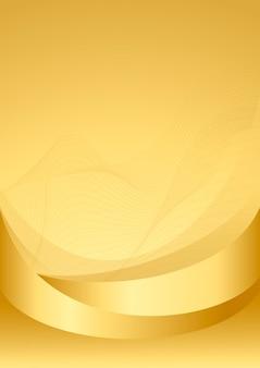 Złoto falowa abstrakcjonistyczna tło ilustracja