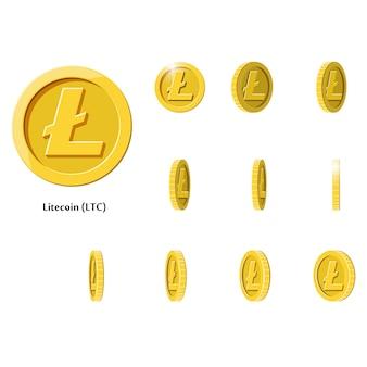 Złoto obróć monety litecoin