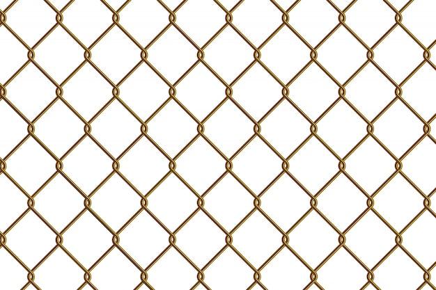 Złoto ogrodzenie ogniwa łańcucha
