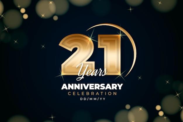 Złoty 21 rocznica tło