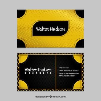 Złoty abstrakcyjna wizytówki