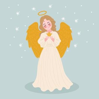 Złoty anioł bożego narodzenia