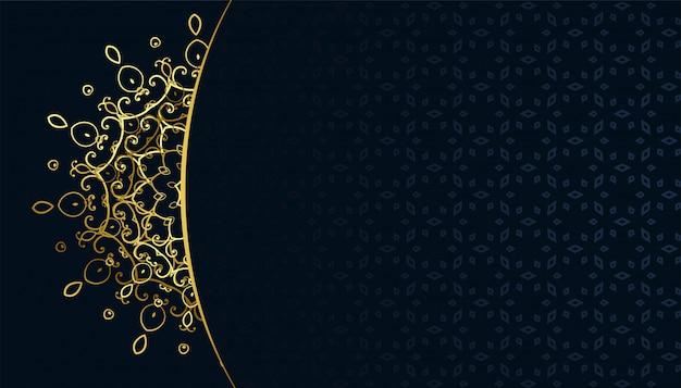 Złoty arabeqsue wzór mandali arabski styl tła