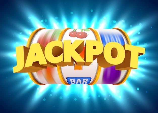 Złoty automat wygrywa jackpot. wielki jackpot w kasynie.