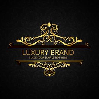 Złoty błyszczący luksusowych tle marki