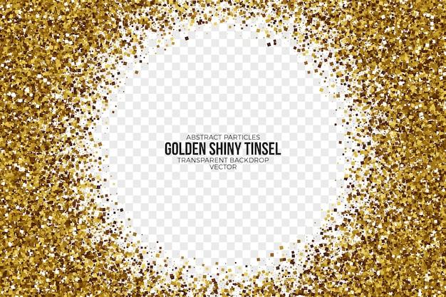 Złoty błyszczący świecidełko abstrakcjonistyczny wektorowy tło