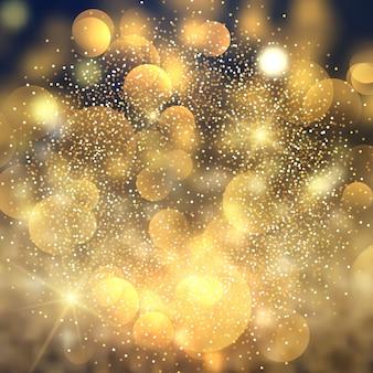 Złoty bokeh zaświeca tło