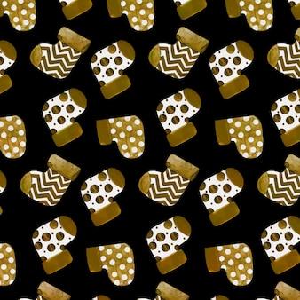 Złoty boże narodzenie wzór tła