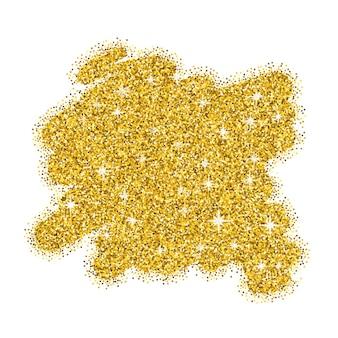 Złoty brokat kleks abstrakcyjny wzór tła na plakat
