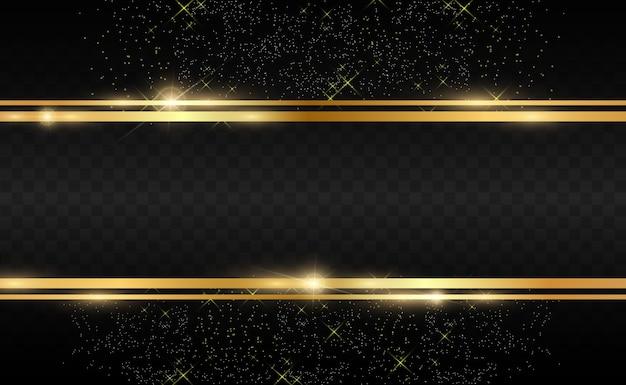 Złoty brokat tło z błyszczącą złotą ramą