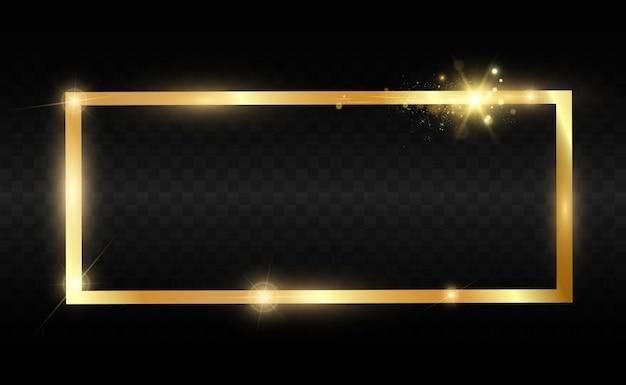 Złoty brokat z błyszczącą złotą ramką