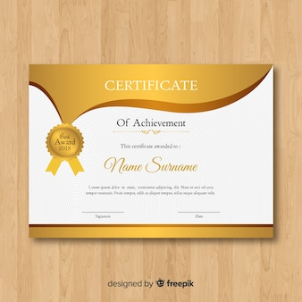 Złoty certyfikat szablonu
