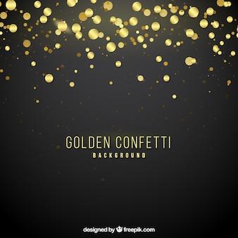 Złoty confetti tło