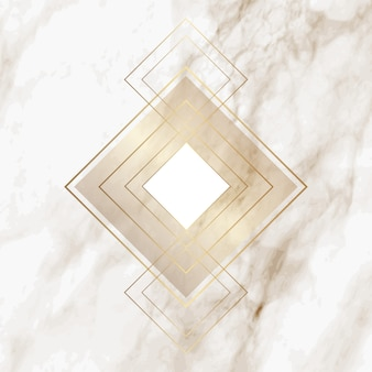 Złoty diament wzór na eleganckiej marmurowej teksturze