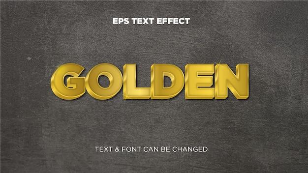 Złoty edytowalny efekt tekstowy eps