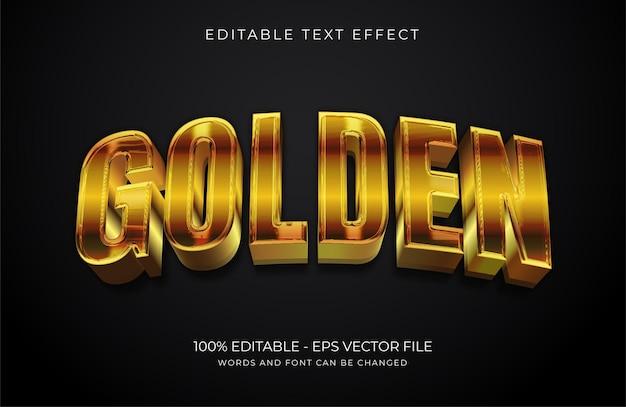 Złoty edytowalny efekt tekstowy premium wektor