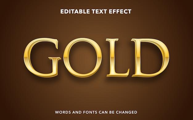 Złoty edytowalny styl efektu tekstu