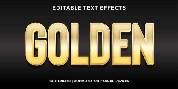 Złoty efekt edycji tekstu w stylu 3d