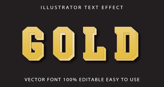 Złoty efekt edycji tekstu