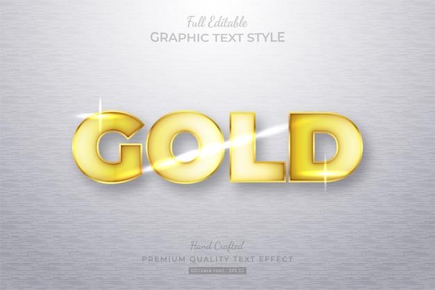 Złoty efekt edytowalnego stylu tekstu premium